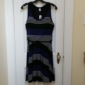 Old Navy Stripe Dress W/Tags